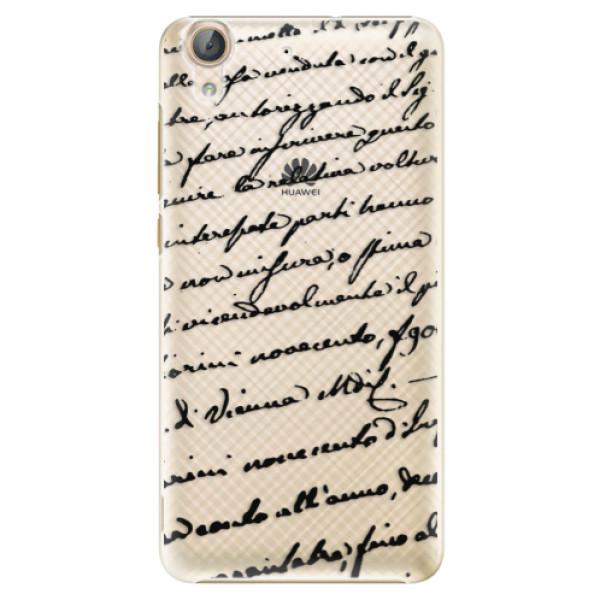 Plastové puzdro iSaprio - Handwriting 01 - black - Huawei Y6 II