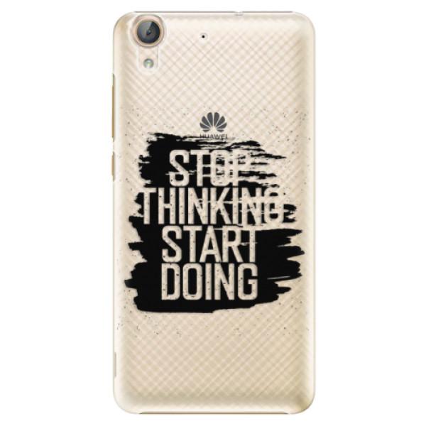 Plastové puzdro iSaprio - Start Doing - black - Huawei Y6 II
