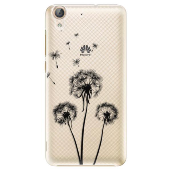 Plastové puzdro iSaprio - Three Dandelions - black - Huawei Y6 II