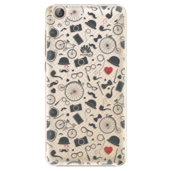 Plastové puzdro iSaprio - Vintage Pattern 01 - black - Huawei Y6 II