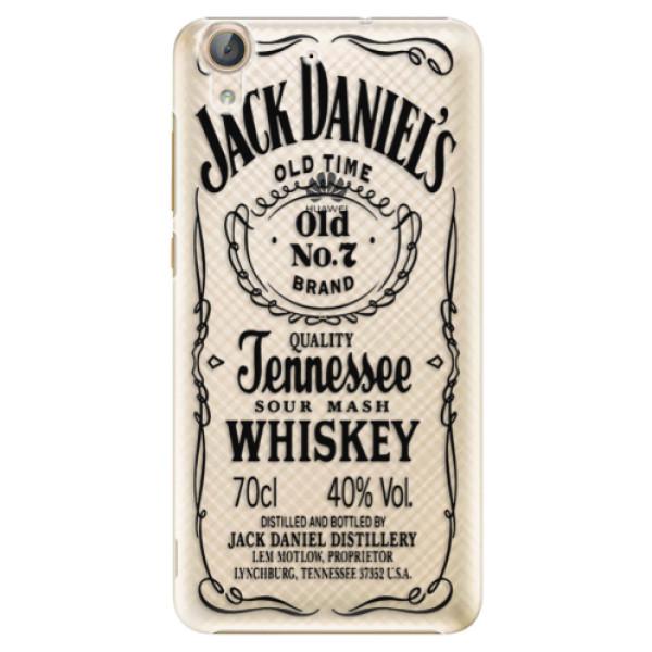 Plastové puzdro iSaprio - Transparent Black Jack - Huawei Y6 II