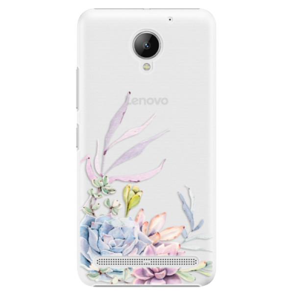 Plastové puzdro iSaprio - Succulent 01 - Lenovo C2