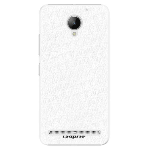 Plastové puzdro iSaprio - 4Pure - bílý - Lenovo C2