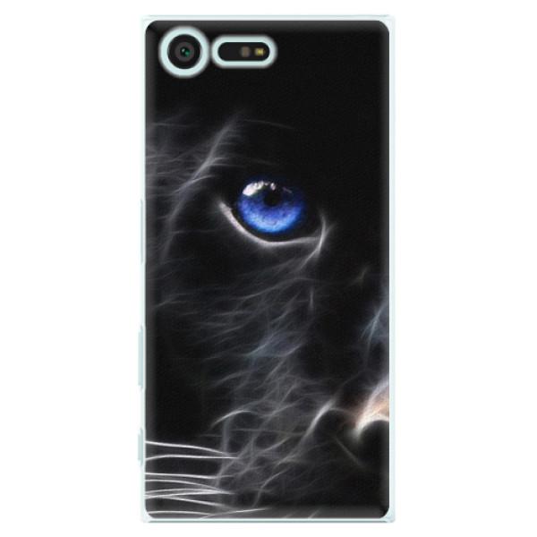 Plastové puzdro iSaprio - Black Puma - Sony Xperia X Compact
