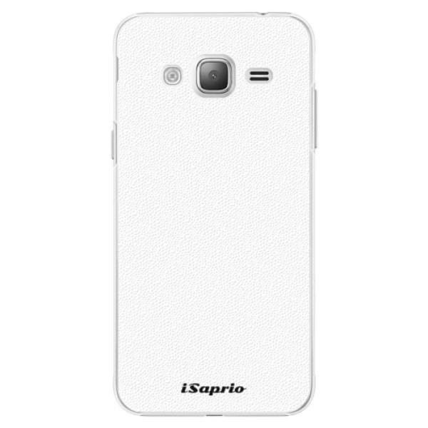 Plastové puzdro iSaprio - 4Pure - bílý - Samsung Galaxy J3