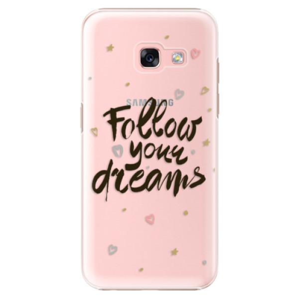 Plastové puzdro iSaprio - Follow Your Dreams - black - Samsung Galaxy A3 2017
