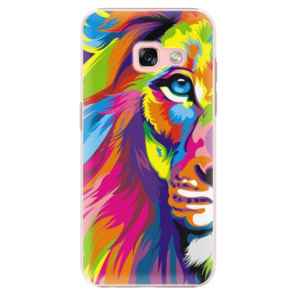 Plastové puzdro iSaprio - Rainbow Lion - Samsung Galaxy A3 2017