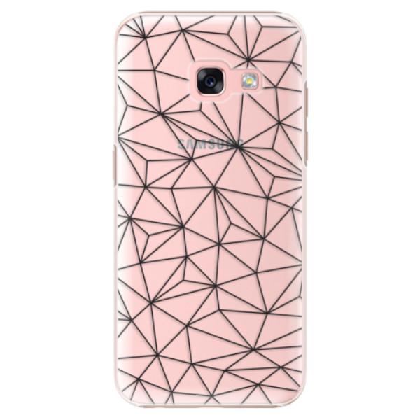Plastové puzdro iSaprio - Abstract Triangles 03 - black - Samsung Galaxy A3 2017