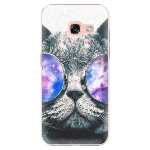 Plastové puzdro iSaprio - Galaxy Cat - Samsung Galaxy A3 2017