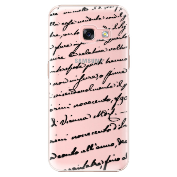 Plastové puzdro iSaprio - Handwriting 01 - black - Samsung Galaxy A3 2017