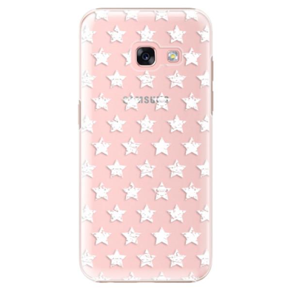 Plastové puzdro iSaprio - Stars Pattern - white - Samsung Galaxy A3 2017