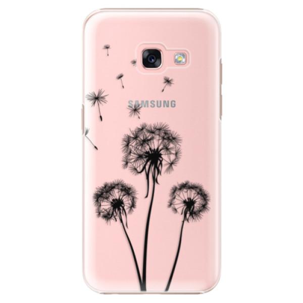 Plastové puzdro iSaprio - Three Dandelions - black - Samsung Galaxy A3 2017
