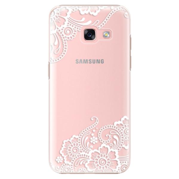 Plastové puzdro iSaprio - White Lace 02 - Samsung Galaxy A3 2017