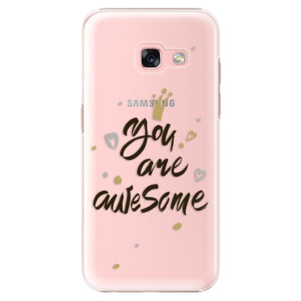 Plastové puzdro iSaprio - You Are Awesome - black - Samsung Galaxy A3 2017