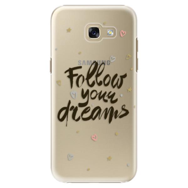 Plastové puzdro iSaprio - Follow Your Dreams - black - Samsung Galaxy A5 2017