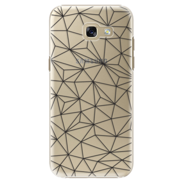 Plastové puzdro iSaprio - Abstract Triangles 03 - black - Samsung Galaxy A5 2017