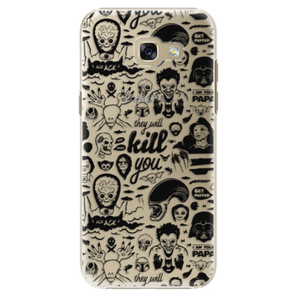 Plastové puzdro iSaprio - Comics 01 - black - Samsung Galaxy A5 2017