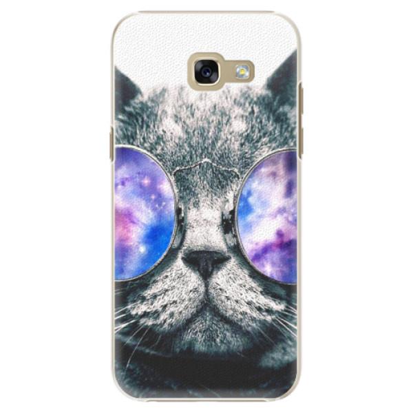 Plastové puzdro iSaprio - Galaxy Cat - Samsung Galaxy A5 2017