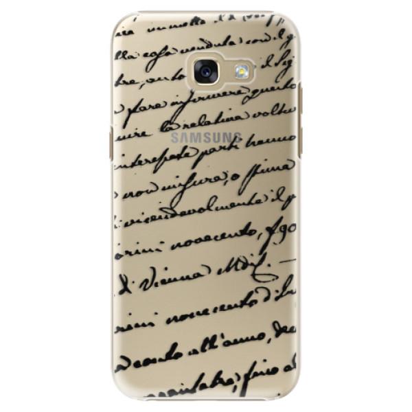 Plastové puzdro iSaprio - Handwriting 01 - black - Samsung Galaxy A5 2017