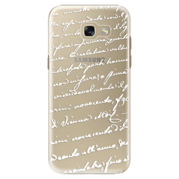 Plastové puzdro iSaprio - Handwriting 01 - white - Samsung Galaxy A5 2017