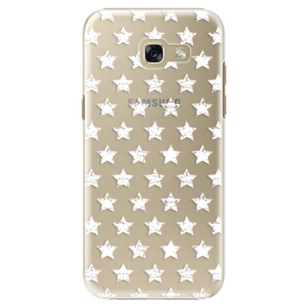 Plastové puzdro iSaprio - Stars Pattern - white - Samsung Galaxy A5 2017