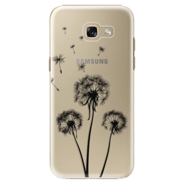 Plastové puzdro iSaprio - Three Dandelions - black - Samsung Galaxy A5 2017