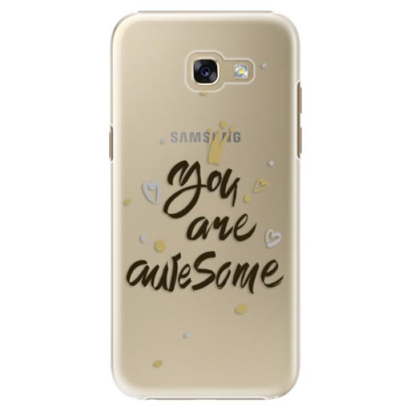 Plastové puzdro iSaprio - You Are Awesome - black - Samsung Galaxy A5 2017
