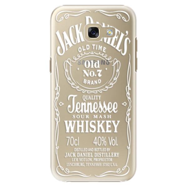 Plastové puzdro iSaprio - Transparent White Jack - Samsung Galaxy A5 2017
