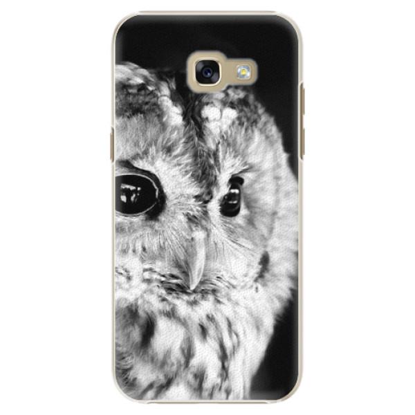 Plastové puzdro iSaprio - BW Owl - Samsung Galaxy A5 2017