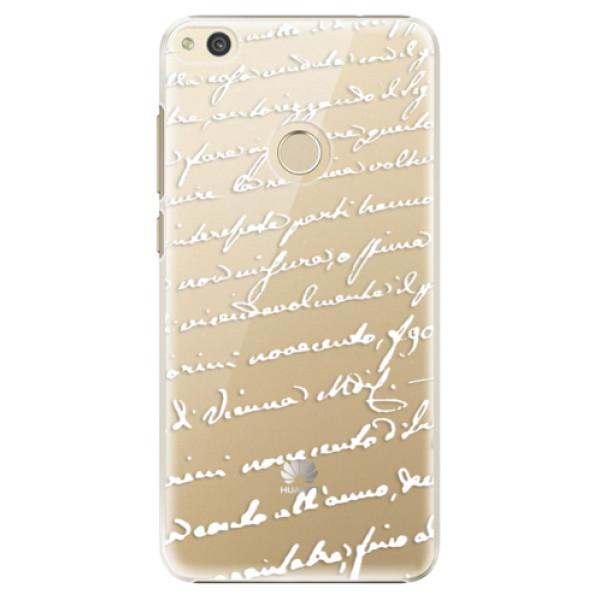 Plastové puzdro iSaprio - Handwriting 01 - white - Huawei P8 Lite 2017