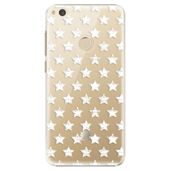 Plastové puzdro iSaprio - Stars Pattern - white - Huawei P8 Lite 2017