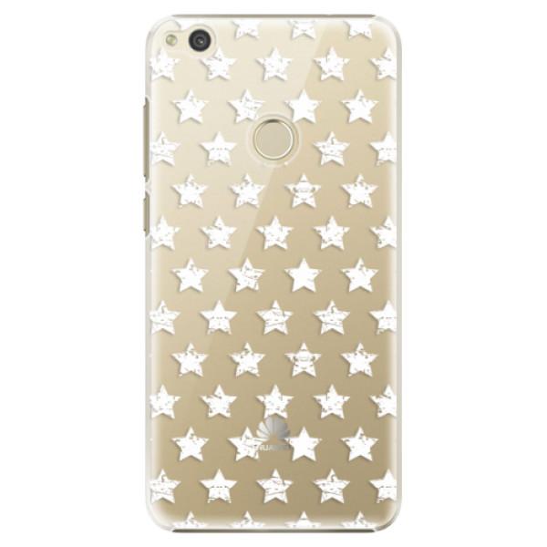 Plastové puzdro iSaprio - Stars Pattern - white - Huawei P9 Lite 2017