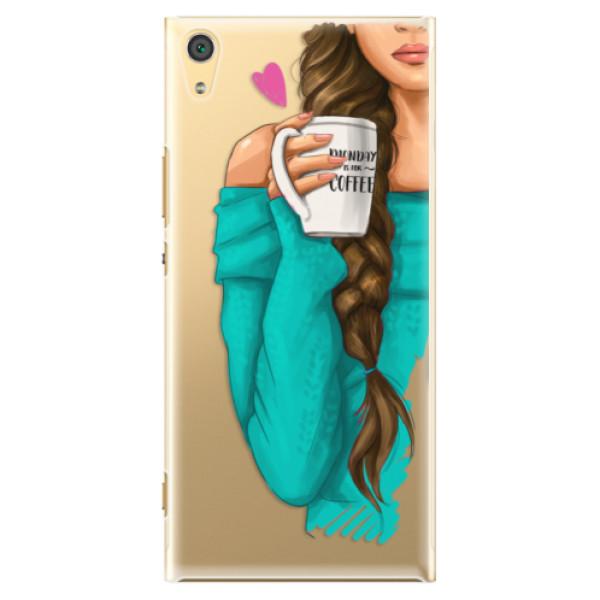 Plastové puzdro iSaprio - My Coffe and Brunette Girl - Sony Xperia XA1 Ultra