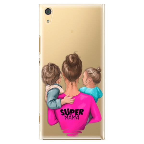 Plastové puzdro iSaprio - Super Mama - Boy and Girl - Sony Xperia XA1 Ultra