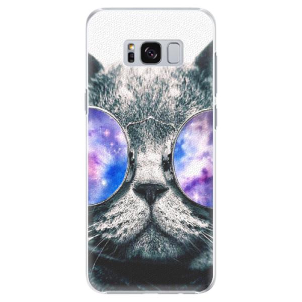 Plastové puzdro iSaprio - Galaxy Cat - Samsung Galaxy S8 Plus