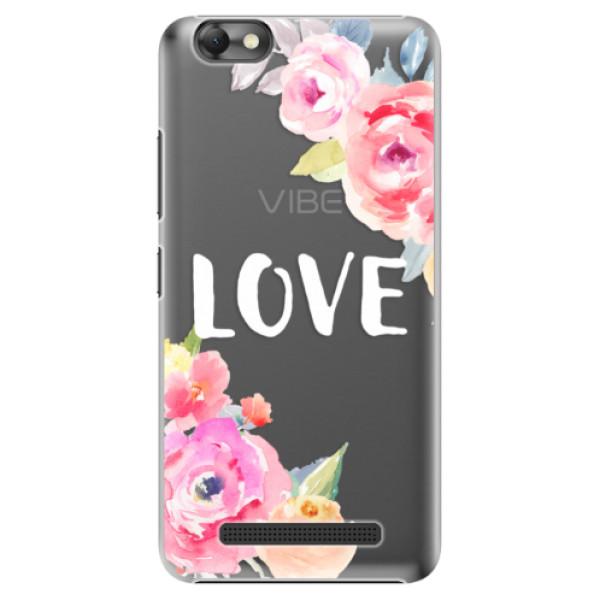 Plastové puzdro iSaprio - Love - Lenovo Vibe C
