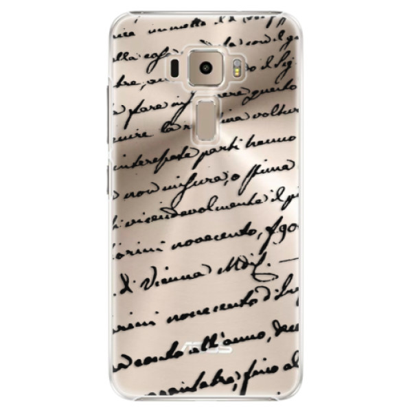 Plastové puzdro iSaprio - Handwriting 01 - black - Asus ZenFone 3 ZE520KL