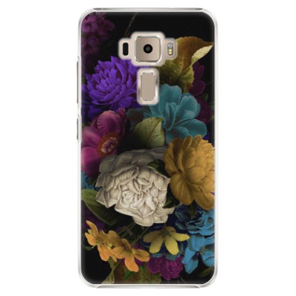 Plastové puzdro iSaprio - Dark Flowers - Asus ZenFone 3 ZE520KL