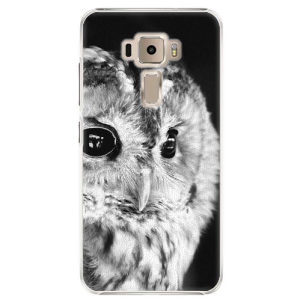Plastové puzdro iSaprio - BW Owl - Asus ZenFone 3 ZE520KL