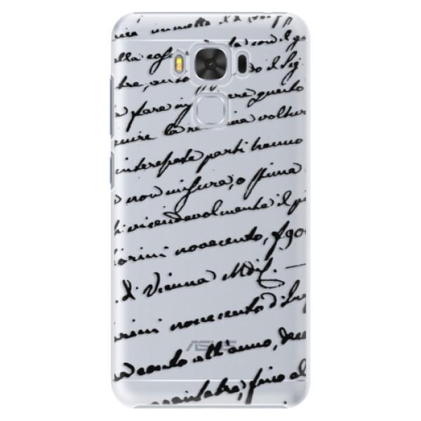 Plastové puzdro iSaprio - Handwriting 01 - black - Asus ZenFone 3 Max ZC553KL