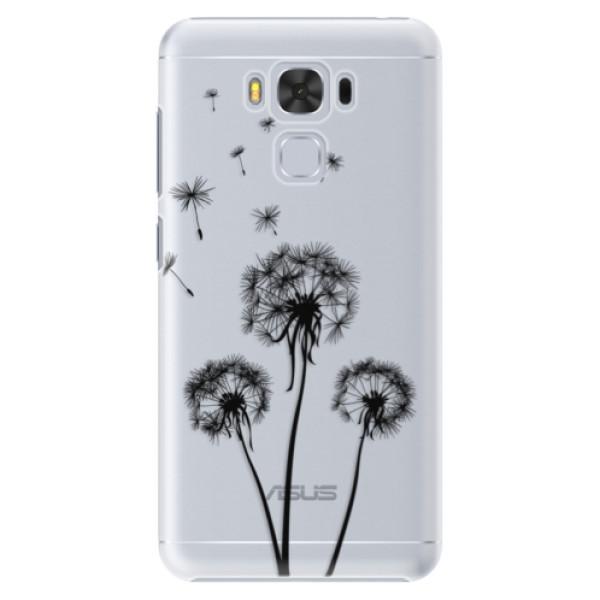 Plastové puzdro iSaprio - Three Dandelions - black - Asus ZenFone 3 Max ZC553KL