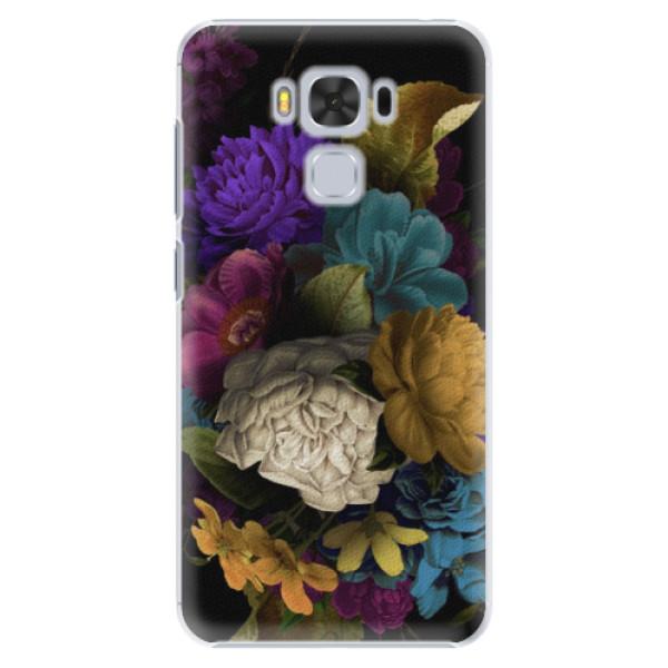Plastové puzdro iSaprio - Dark Flowers - Asus ZenFone 3 Max ZC553KL