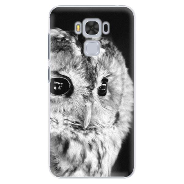 Plastové puzdro iSaprio - BW Owl - Asus ZenFone 3 Max ZC553KL