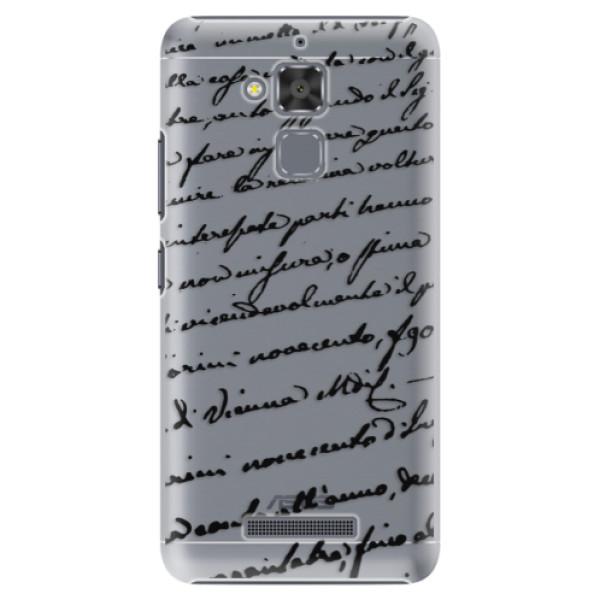 Plastové puzdro iSaprio - Handwriting 01 - black - Asus ZenFone 3 Max ZC520TL