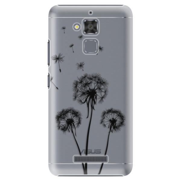 Plastové puzdro iSaprio - Three Dandelions - black - Asus ZenFone 3 Max ZC520TL