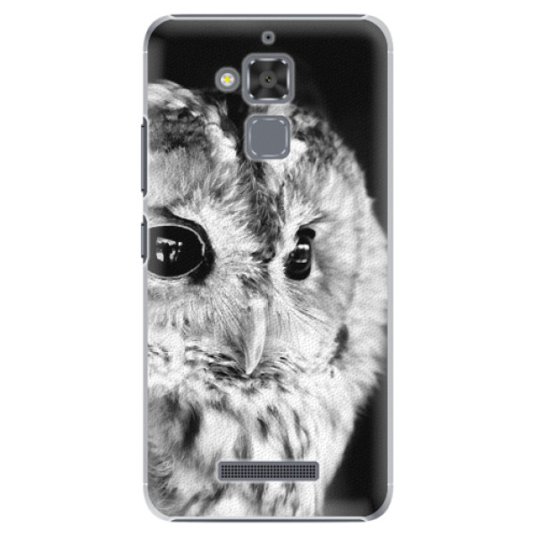 Plastové puzdro iSaprio - BW Owl - Asus ZenFone 3 Max ZC520TL