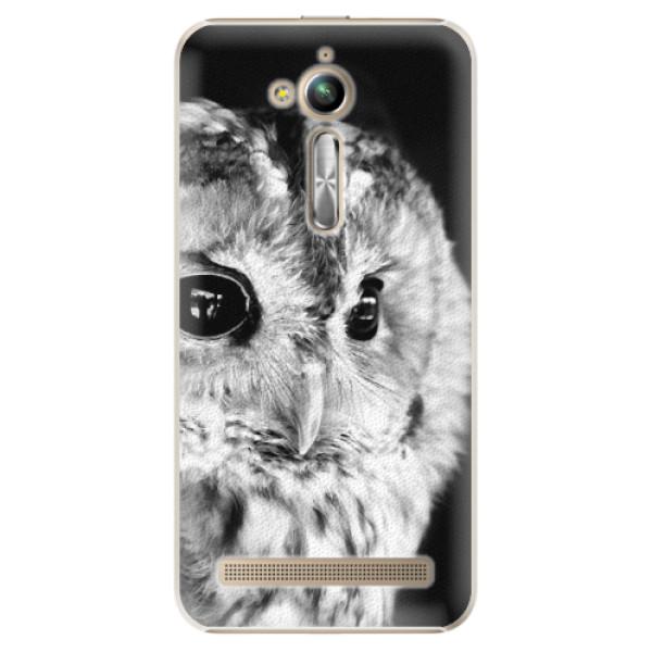 Plastové puzdro iSaprio - BW Owl - Asus ZenFone Go ZB500KL