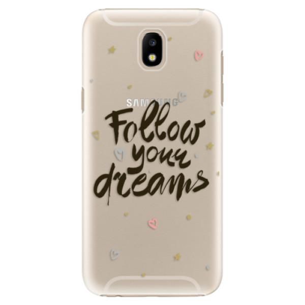 Plastové puzdro iSaprio - Follow Your Dreams - black - Samsung Galaxy J5 2017