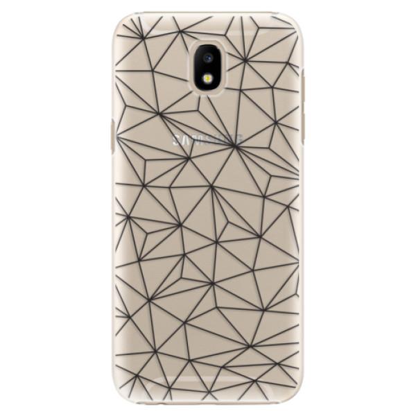 Plastové puzdro iSaprio - Abstract Triangles 03 - black - Samsung Galaxy J5 2017