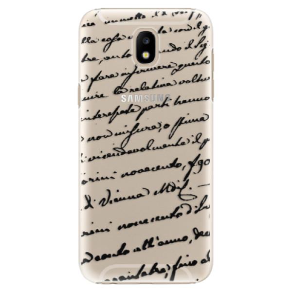 Plastové puzdro iSaprio - Handwriting 01 - black - Samsung Galaxy J5 2017